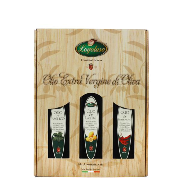 Aromattizzati-Olio-&-Basilico-Olio-&-Limone-Olio-&-Peperoncino