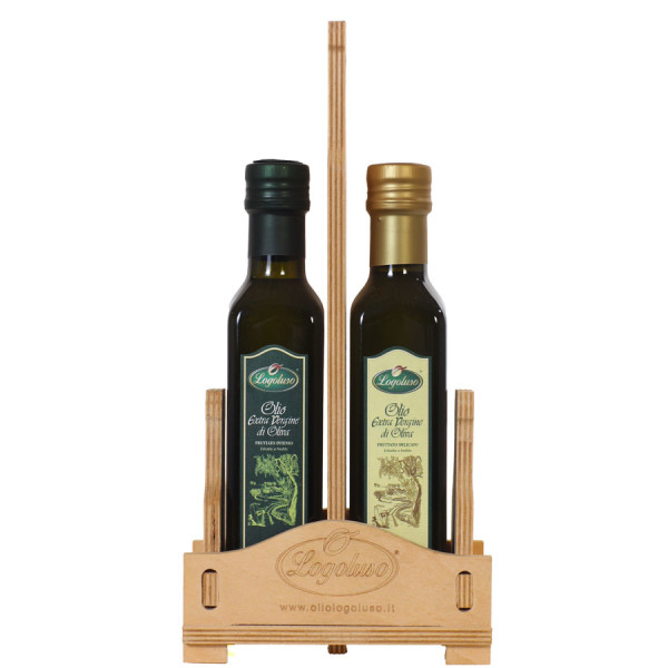 confezione-olio-extravergine-fruttato-delicato-intenso-logoluso